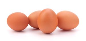 4 braune Eier