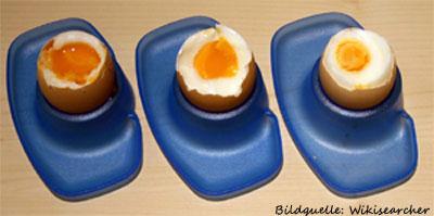 Gekochte Eier - von flüssiger Dotter über weich bis hart